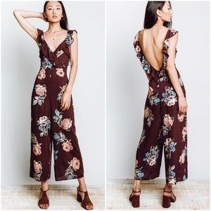 NWT Show Me Your Mumu Bianca Jumpsuit Roses Floral